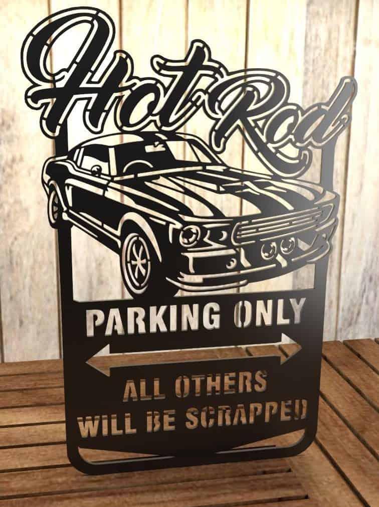 mustang car free dxf files