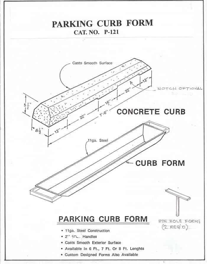 Precast Parking Curb Forms