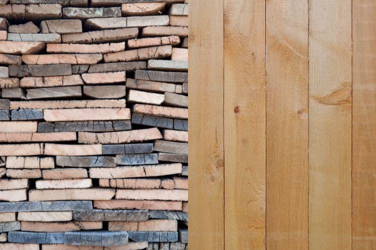reclaimed wood vs new wood