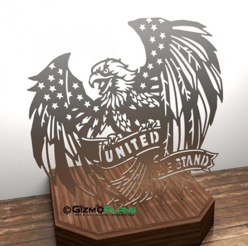 united we stand cnc plasma dxf file
