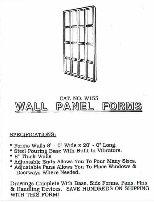 Wall Panel Forms Tilt Up Concrete