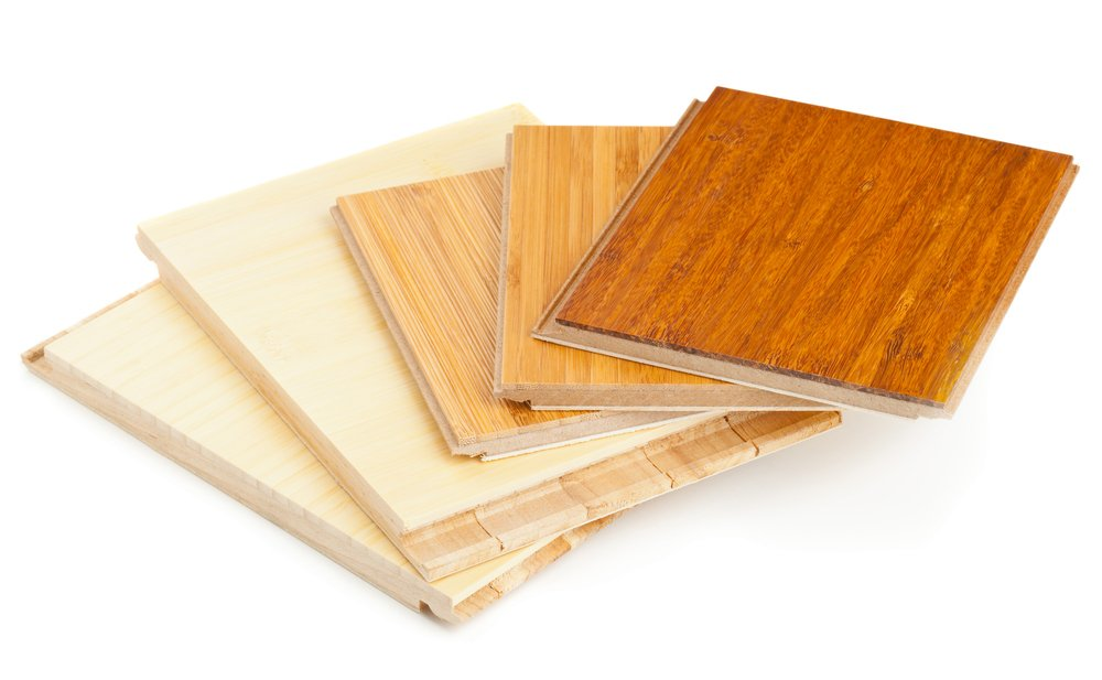 Bamboo flooring samples are shown in this image.  Bamboo is incredibly strong material.