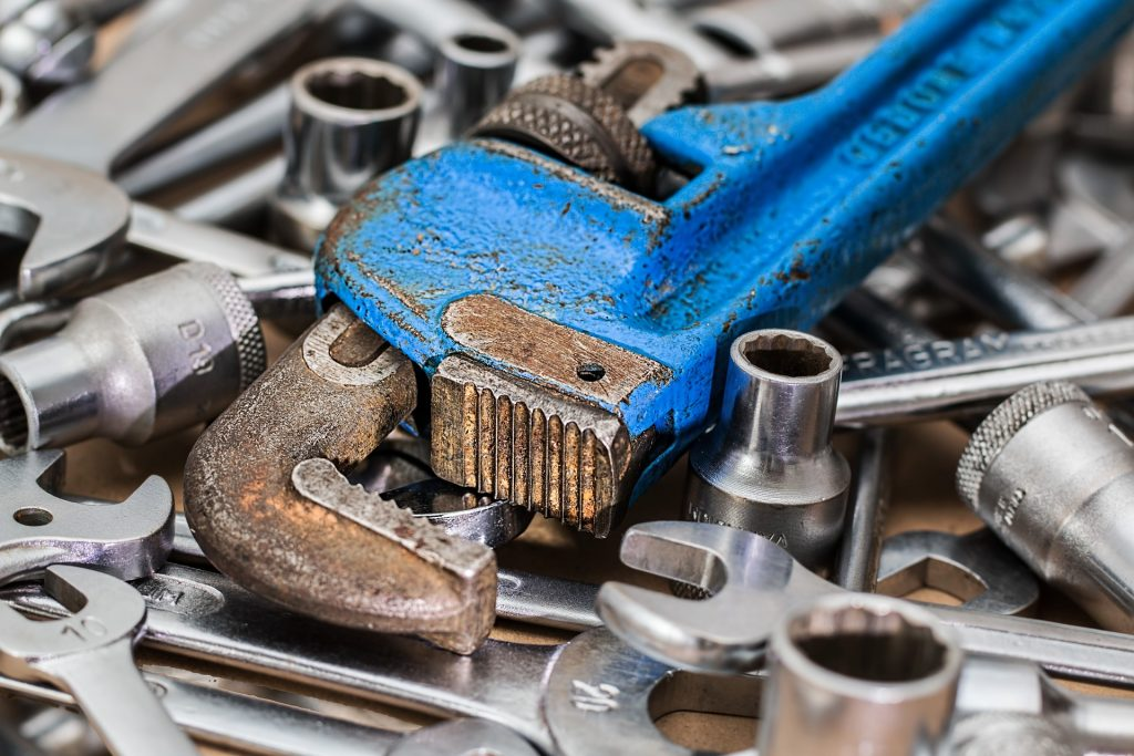 A variety of wrenches and sockets are shown in this file photo.
